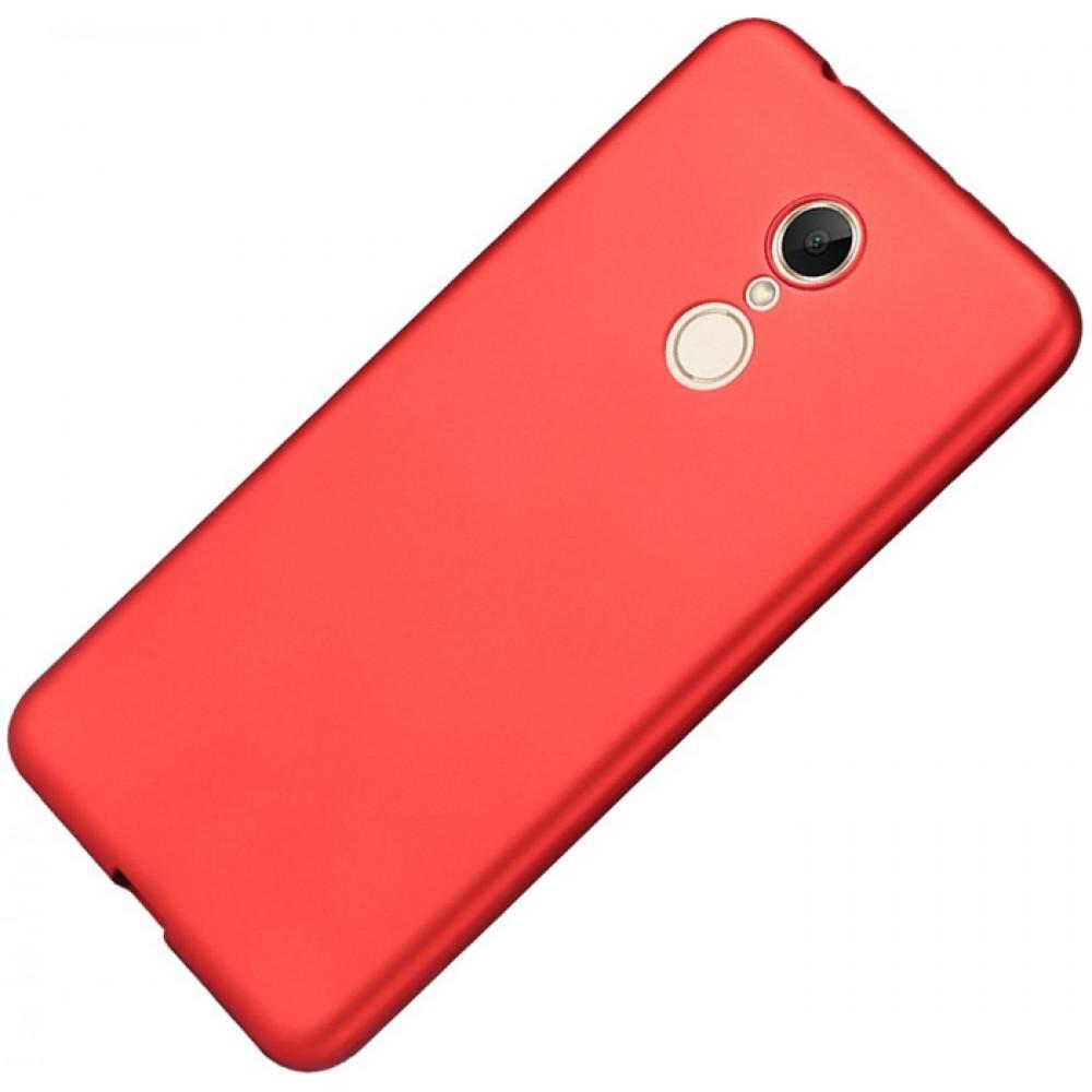 Чехол для Xiaomi Redmi 5, Силиконовый бампер красный