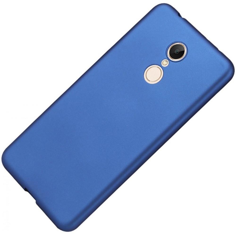 Чехол для Xiaomi Redmi 5, Силиконовый бампер синий