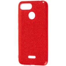 Чехол для Xiaomi Redmi 6 с блестками красный
