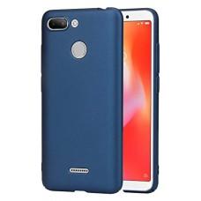 Чехол для Xiaomi Redmi 6 силиконовый синий