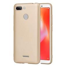 Чехол для Xiaomi Redmi 6 силиконовый золотой