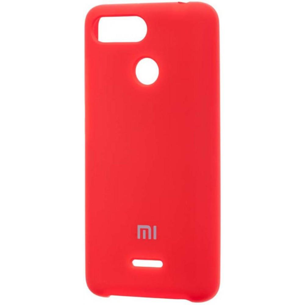 Чехол для Xiaomi Redmi 6 Soft Touch красный