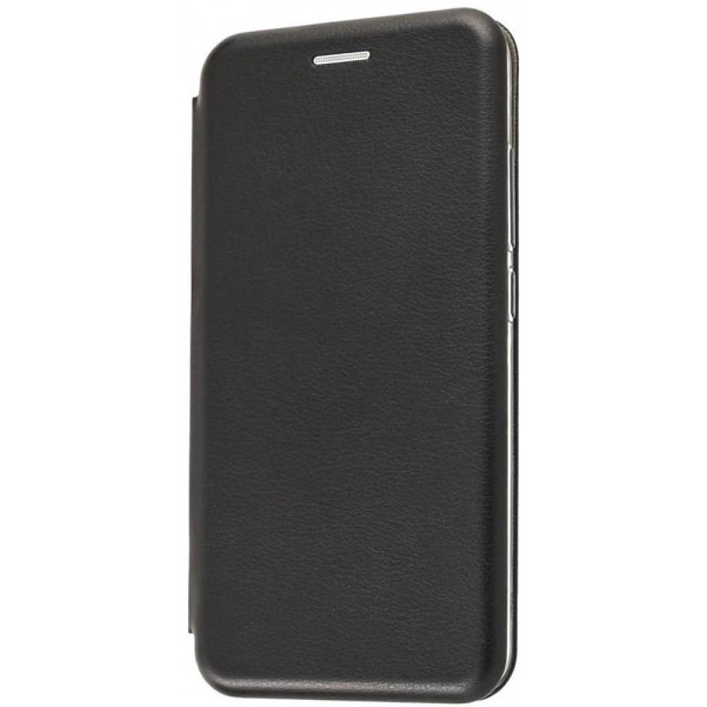 Чехол для Xiaomi Redmi 6A черный кожаный