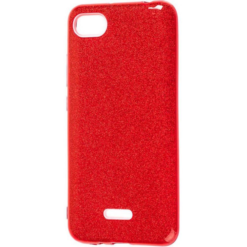 Чехол для Xiaomi Redmi 6A с блестками красный