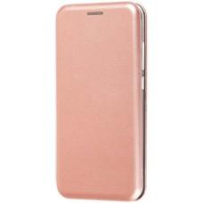 Чехол для Xiaomi Redmi 6A золотисто-розовый кожаный