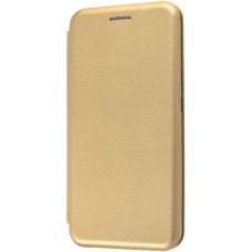 Чехол для Xiaomi Redmi 6A золотой кожаный
