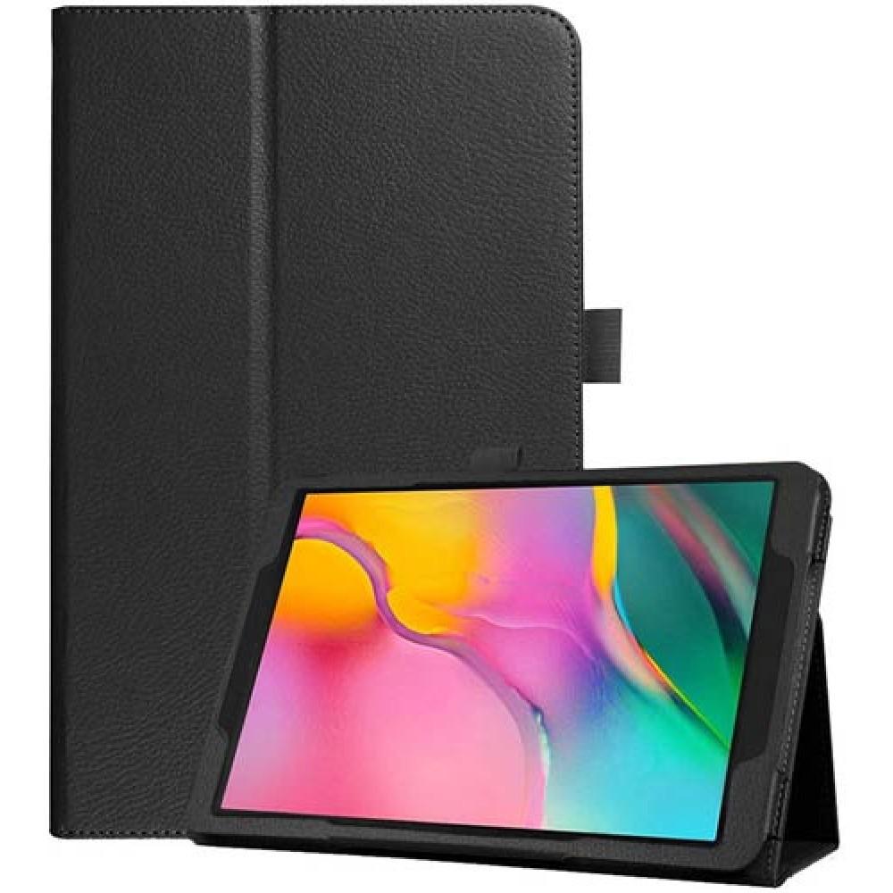 Чехол для Samsung Galaxy Tab A 10.1 2019 черный кожаный
