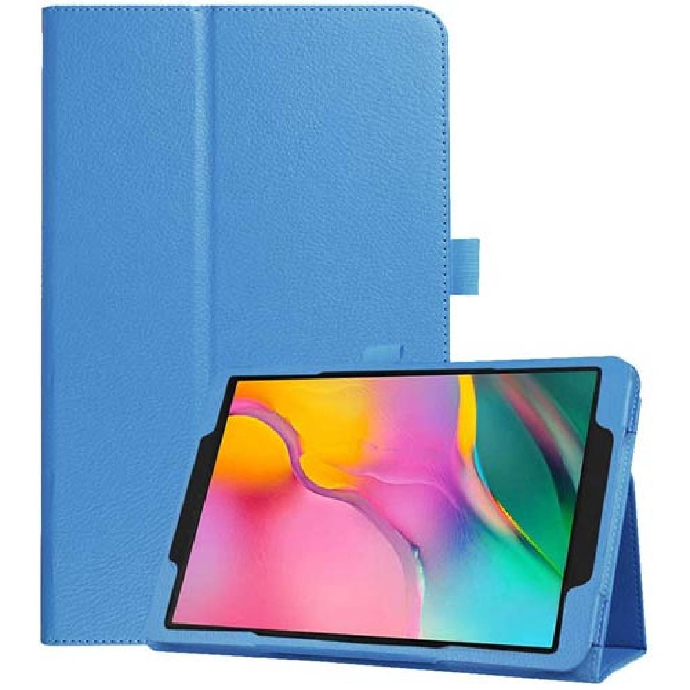 Чехол для Samsung Galaxy Tab A 10.1 2019 голубой кожаный
