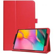 Чехол для Samsung Galaxy Tab A 10.1 2019 красный кожаный