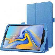 Чехол для Samsung Galaxy Tab A 10.5 2018 голубой кожаный