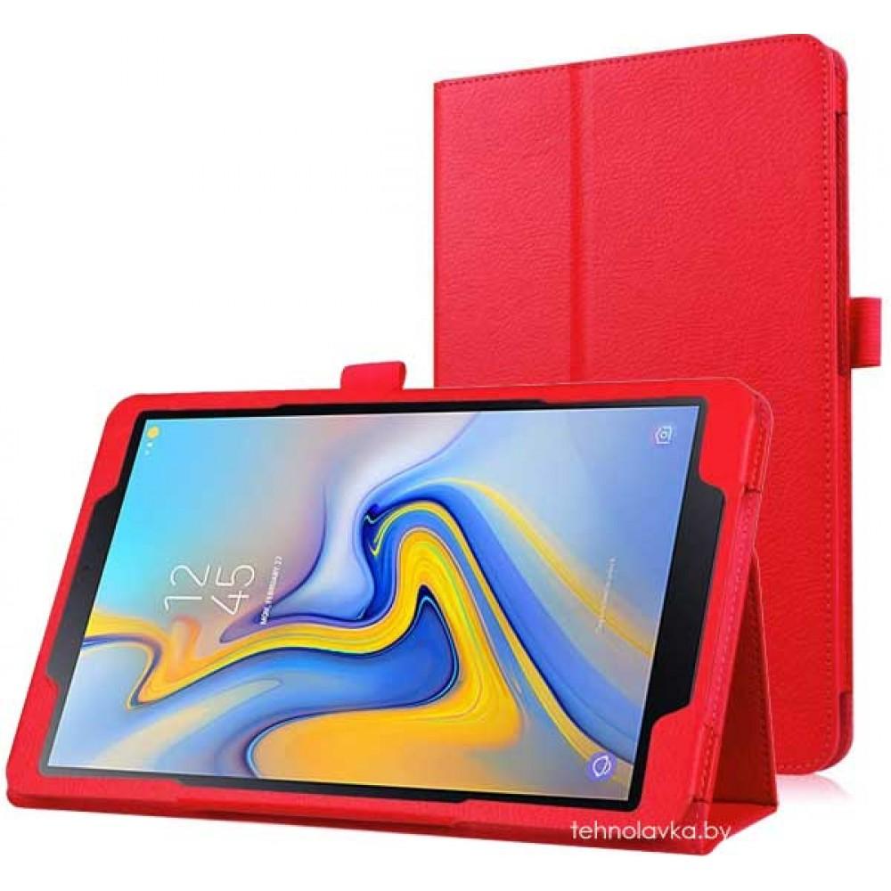 Чехол для Samsung Galaxy Tab A 10.5 2018 красный кожаный