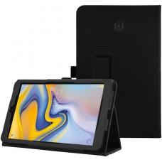 Чехол для Samsung Galaxy Tab A 8.0 2018 SM-T387 черный кожаный