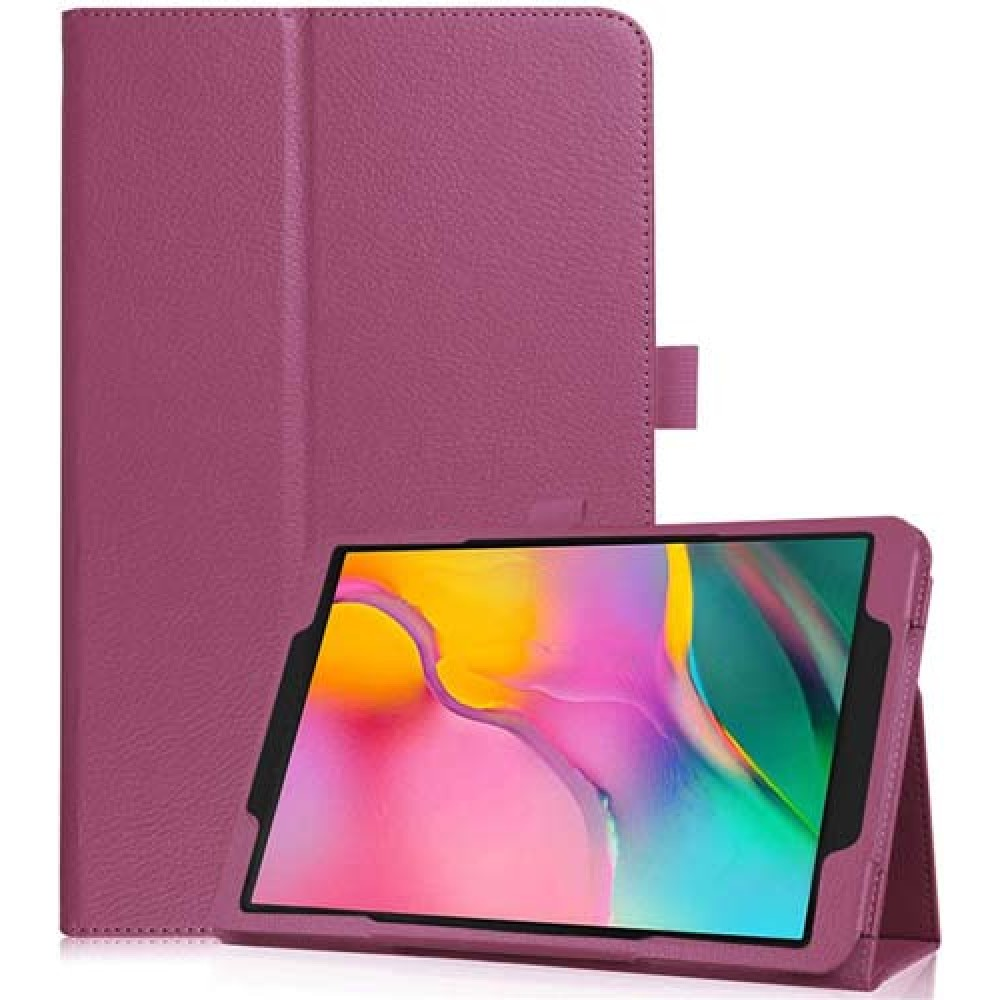 Чехол для Samsung Galaxy Tab A 8.0 2019 фиолетовый кожаный