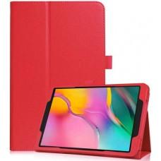 Чехол для Samsung Galaxy Tab A 8.0 2019 красный кожаный