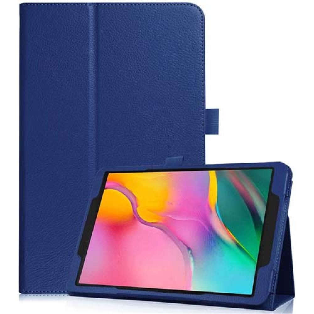 Чехол для Samsung Galaxy Tab A 8.0 2019 синий кожаный