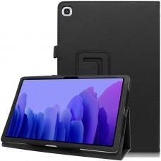 Чехол для Samsung Galaxy Tab A7 10.4 2020 кожаный черного цвета