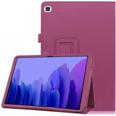 Чехол для Samsung Galaxy Tab A7 10.4 2020 кожаный фиолетового цвета