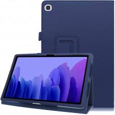 Чехол для Samsung Galaxy Tab A7 10.4 2020 кожаный синего цвета
