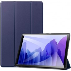 Чехол для Samsung Galaxy Tab A7 10.4 2020 темно-синий полиуретановый