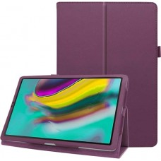 Чехол для Samsung Galaxy Tab S5e 10.5 2019 кожаный фиолетовый