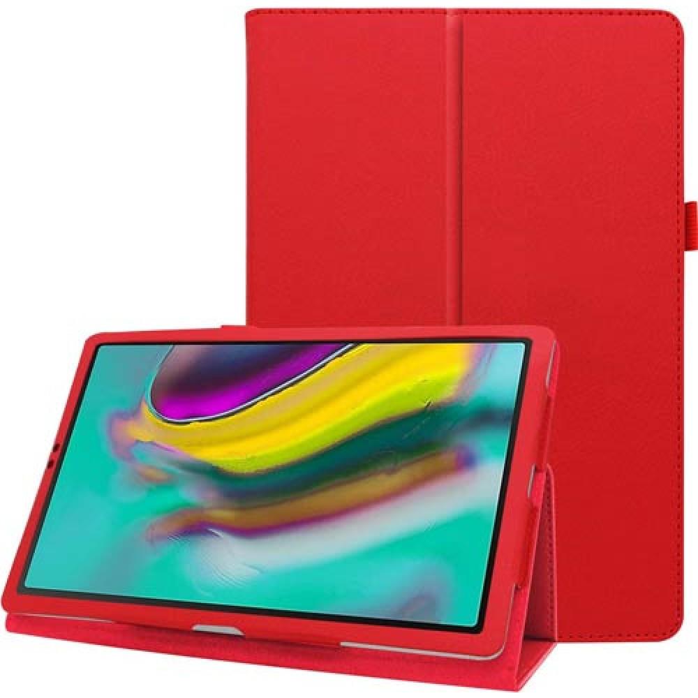 Чехол для Samsung Galaxy Tab S5e 10.5 2019 кожаный красный