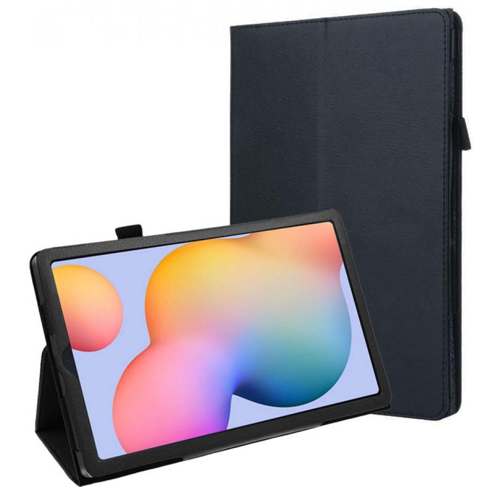 Чехол для Samsung Galaxy Tab S6 Lite черный кожаный