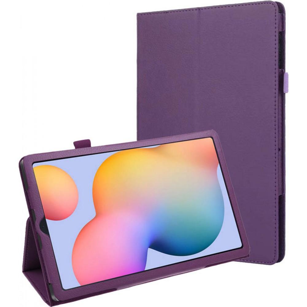 Чехол для Samsung Galaxy Tab S6 Lite фиолетовый кожаный