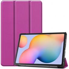 Чехол для Samsung Galaxy Tab S6 Lite фиолетовый полиуретановый