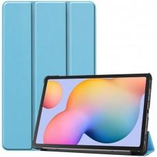 Чехол для Samsung Galaxy Tab S6 Lite голубой полиуретановый