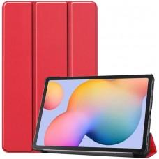 Чехол для Samsung Galaxy Tab S6 Lite красный полиуретановый