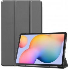 Чехол для Samsung Galaxy Tab S6 Lite серый полиуретановый