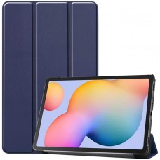 Чехол для Samsung Galaxy Tab S6 Lite темно-синий полиуретановый