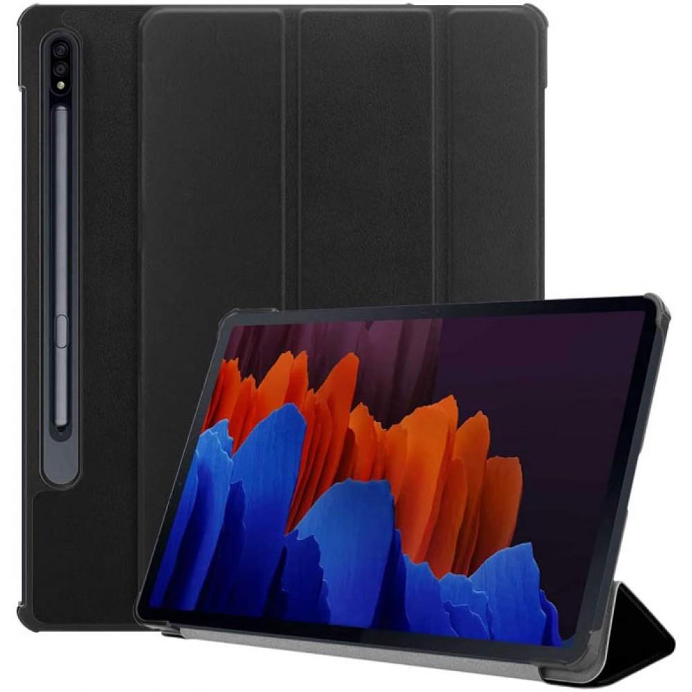 Чехол для Samsung Galaxy Tab S7 Plus черный полиуретановый