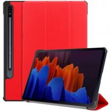 Чехол для Samsung Galaxy Tab S7 Plus красный полиуретановый