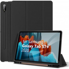 Чехол для Samsung Galaxy Tab S7 Plus с креплением под стилус черный