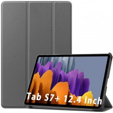 Чехол для Samsung Galaxy Tab S7 Plus серый полиуретановый