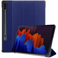 Чехол для Samsung Galaxy Tab S7 Plus темно-синий полиуретановый