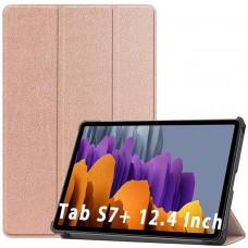 Чехол для Samsung Galaxy Tab S7 Plus золотистый полиуретановый
