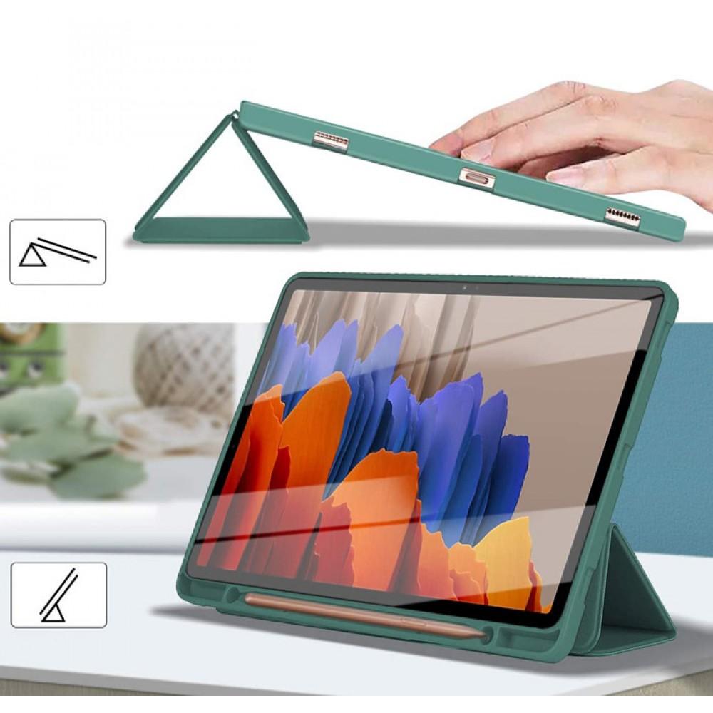Чехол для Samsung Galaxy Tab S7 с креплением под стилус зеленый