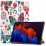Чехол для Samsung Galaxy Tab S7 с рисунком Butterfly полиуретановый