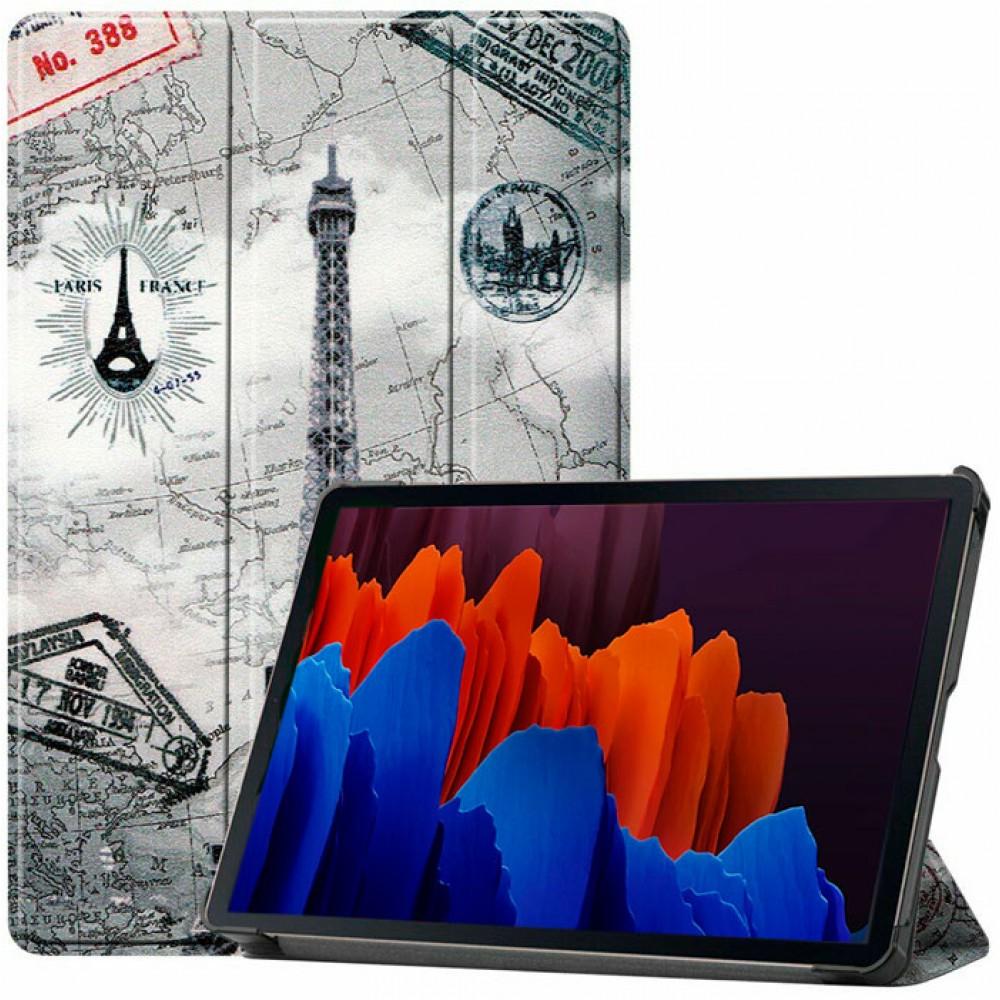 Чехол для Samsung Galaxy Tab S7 Eiffel Tower полиуретановый