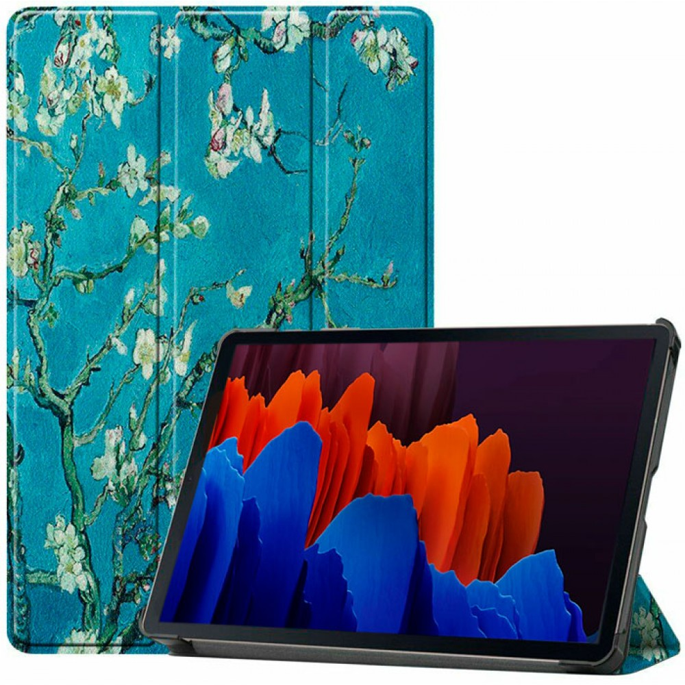 Чехол для Samsung Galaxy Tab S7 Apricot Flower полиуретановый