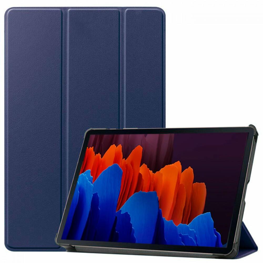 Чехол для Samsung Galaxy Tab S7 темно-синий полиуретановый