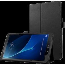 Чехол для Samsung Galaxy Tab A 10.1 2016 SM-T580 / T585C / T585N черный кожаный