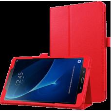 Чехол для Samsung Galaxy Tab A 10.1 2016 SM-T580 / T585C / T585N красный кожаный