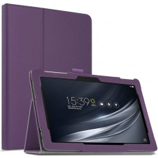 Чехол для Asus ZenPad 10 Z301 фиолетовый кожаный