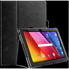 Чехол для ASUS ZenPad 10 черный кожаный