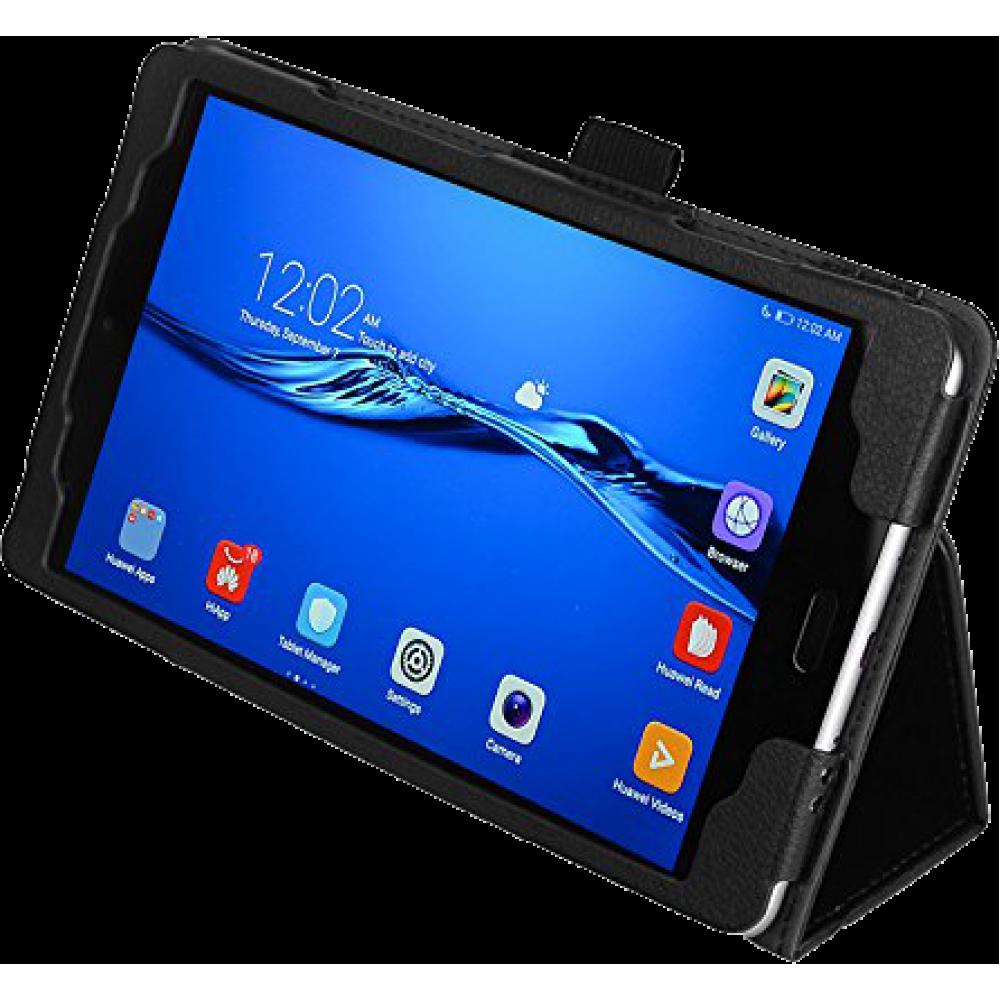 Чехол для Huawei MediaPad M3 Lite 8 черный кожаный