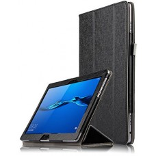 Чехол для Huawei MediaPad M3 Lite 10 черный кожаный