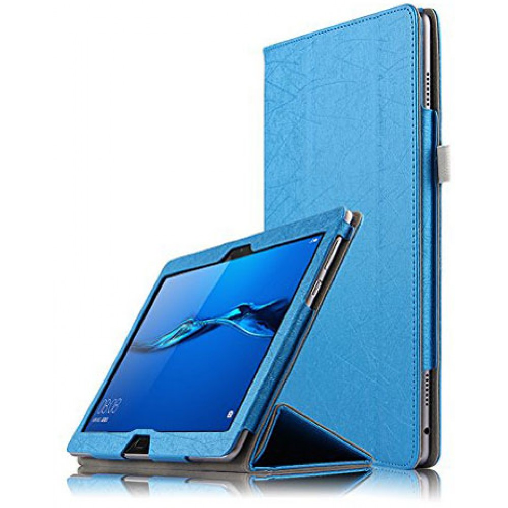 Чехол для Huawei MediaPad M3 Lite 10 голубой кожаный